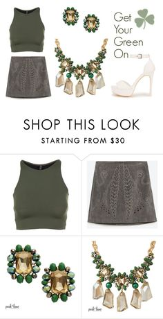 """""""St.Patrick's Day Fashion"""" by parklanejewelry on Polyvore featuring Onzie, Zara and Nly Shoes"""