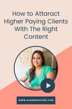 The content you share on social media may be attracting the wrong types of clients. In this video, I explain how to create the right type of content to attract higher paying clients. Watch this video to know more!