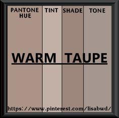 PANTONE SEASONAL COLOR SWATCH WARM TAUPE