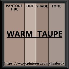 PANTONE SEASONAL COLOR SWATCH WARM TAUPE