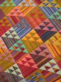 quilt fabric, quilt kits, quilts, and other quilting products from the books Museum Quilts and Passionate Patchwork by Kaffe Fassett and Liza Prior Lucy. Plaid Quilt, Striped Quilt, Striped Fabrics, Patch Quilt, Quilt Blocks, Half Square Triangle Quilts, Scrappy Quilts, Quilt Kits, Quilting Designs