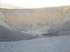 Ubehebe is 0.8 kilometers (0.5 mile) across, and is the remnant of a volcanic crater.