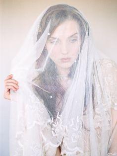 Elegant Lace Veil | photography by http://www.michaelandcarina.com/