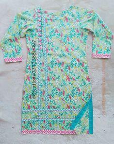 Girls Dresses Sewing, Stylish Dresses For Girls, Simple Dresses, Casual Dresses, Casual Wear, Sleeves Designs For Dresses, Dress Neck Designs, Stylish Dress Designs, Simple Pakistani Dresses