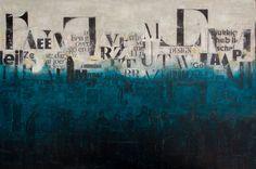 "For Sale: TOWARDS TOGETHER by db Waterman | $2,000 | 47""w 32""h | Original Art | https://www.vangoart.co/db-waterman/towards-together @VangoArt"