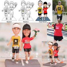 Running+Themed+Weddings | Running Cake Topper , Bride and Groom Running Topper , Runner Cake ...