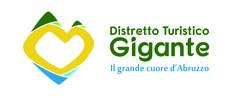 Logo dedicato al Gran Sasso, montagna più alta degli Appennini situata nella regione dell'Abruzzo. Il Gran Sasso, visto come il cuore grande dell'Abruzzo caratterizzato da Corno Grande e Corno Piccolo, il Sole e il Lago di Campotosto proprio ai suoi piedi.