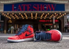 The latest Air Jordan 1 colorway references a 1985 jumpsuit that Michael Jordan wore on David Letterman. Available April 30th. Style Code: 555088-606