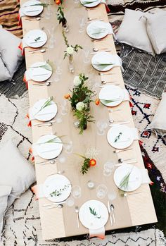 Boho backyard party: http://www.stylemepretty.com/living/2015/06/13/9-stylish-theme-parties-you-should-throw-this-summer/