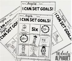 Easy goal setting for kindergarten! Great post about the next step after you've started data notebooks!
