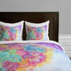DENY Designs Stephanie Corfee Flourish Microfiber Duvet Cover from Wayfair. Saved to Future Room. Pottery Barn, Velvet Duvet, Ikea, Shabby, Eclectic Decor, Queen, Bohemian Decor, Bohemian Bedding, Girls Bedroom