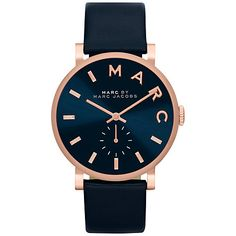 Buy Marc by Marc Jacobs MBM1329 Unisex Baker Watch, Navy Online at johnlewis.com