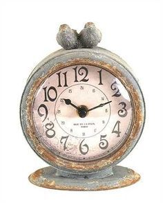Pewter Bird Clock, whimsical home decor!