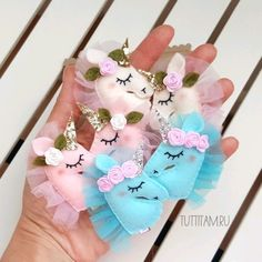 Mothers Day Crafts For Kids, Diy For Kids, Baby Schmuck, Handgemachtes Baby, Unicorn Themed Birthday Party, Felt Crafts Patterns, Lavender Bags, Unicorn Crafts, Diy Ribbon