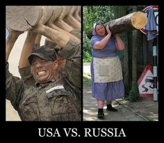 Демотиватор: USA vs. Russia