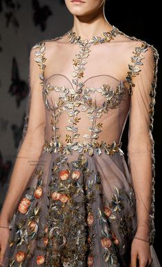 Spring 2014 Couture Valentino -- the detail in this dress!!