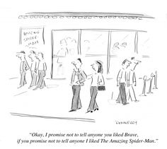 My piece on Forbes: The Amazing Spider-Man And Brave: Chick-Flicks And Dick Flicks? - http://www.forbes.com/sites/lizadonnelly/2012/07/14/the-amazing-sider-man-and-brave-chick-flicks-and-dick-flicks/#