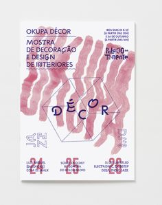 Okupa Poster for PALÁCIO DO TENENTE using BIG by Debureau Foundry and ZIG ZAG Not-Rounded by Benoît Bodhuin.