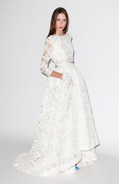 9 Two-Piece Wedding Dresses to Make You Break Tradition: http://www.modwedding.com/2014/09/30/9-two-piece-wedding-dresses-to-make-you-break-tradition/ #wedding #wedding_dresses #weddings