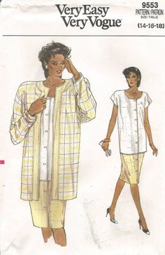 Vogue 1463 Misses/' Top and Shirt *Extremely Rare*   Sewing Pattern