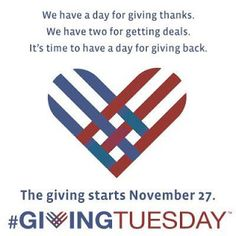November 27 is Giving Tuesday, a day for giving back. Please spread the word and consider giving to support sarcoma research.