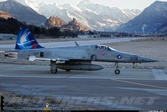 Swiss Air Force F-5E Tiger II at Sion AB.