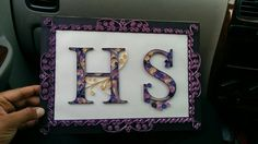 a beautiful letter frame as a gift