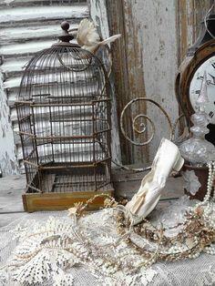 antieke vogelkooi | verkochte artikelen/sold | De Merel Brocante ...