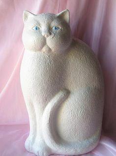 Vintage Ceramic Cat. $25.00, via Etsy.