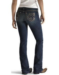 Ariat Turquoise Halo Cross Jeans - Night Sky