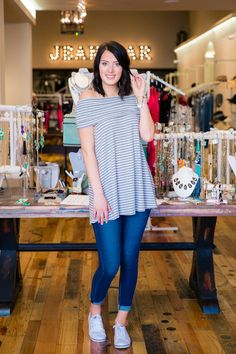 Off the shoulder tops are one of the biggest trends for Summer!