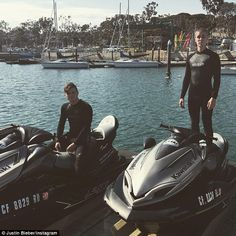 'Yaga':Justin and his colleagues didn't just rough it, they also enjoyed the more lavish poolside treatment as well as some scenic jet skiing