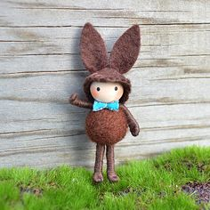 Chocolate Easter Bunny Bendy Doll by dreamalittle7 on Etsy