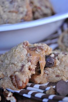 Oatmeal Turtle Cookies on Somewhat Simple