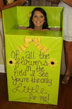 ah ha ha ha..if i was in a sorority and my big did this, i would quit.