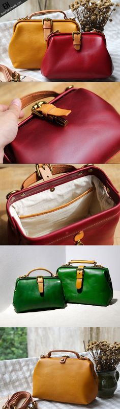 Handmade Leather doctor bag for women leather shoulder bag