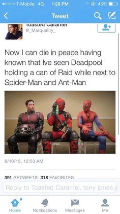 Deadpool, always prepared for an buggy-hero problem.
