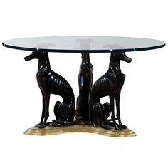 Maitland-Smith Bronze and Brass 'Whippets' Coffee Table | 1stdibs.com
