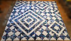 Log Cabin Echoes Quilted Twins free pattern
