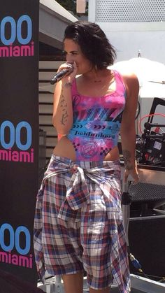 Demi Lovato at Y1000 #CooForTheSummer pool party in Miami - July 2nd