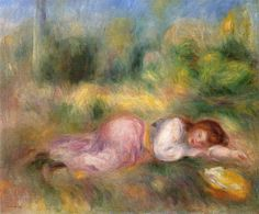 Girl Streched out on the Grass - Renoir