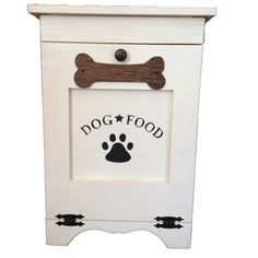 Customizable Wooden Dog Food Storage Container