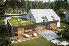 Projektfoto EX 18 energo plus - Haus - Modern Barn House, Modern House Design, House Structure Design, Architecture Plan, Residential Architecture, Building Design, Building A House, Sims House, Home Projects