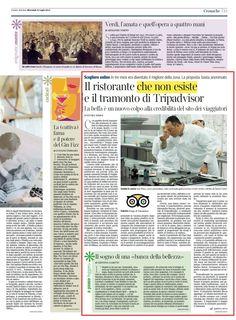 """""""Il ristorante che non esiste e il tramonto di Tripadvisor"""" - Corriere della Sera, 31 luglio 2013, di Elvira Serra"""