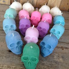 Skull Candle Choose your colour Choose your by StormySeasUK