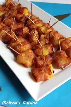 Melissa's Cuisine:  Bacon Wrapped Pineapple Bites
