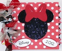 Disney Minnie Mouse Ribbon Autograph Journal by MyStampinMemories