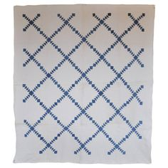 Diamonds in a Wild Geese Sashing Quilt 1
