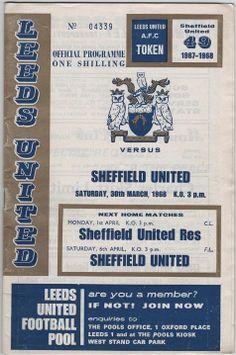 Vintage Football Programme - Leeds United v Sheffield United, 1967/68 season, by DakotabooVintage, £3.99
