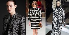 FALL 2013: GRAPHIC ANIMAL PRINT! From left: Alexander McQueen, Burberry Prorsum, Tom Ford